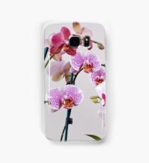Purple Orchid on white background Samsung Galaxy Case/Skin