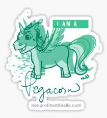 I AM A PEGACORN (square) Sticker