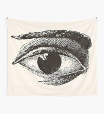 Cool Black and White Eye Wall Tapestry