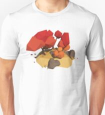Low Poly Faceted Autumn Trees Unisex T-Shirt