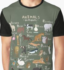 Animals Alphabet Graphic T-Shirt