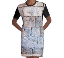 wall constructed with Kurkar a calcareous sandstone  Graphic T-Shirt Dress
