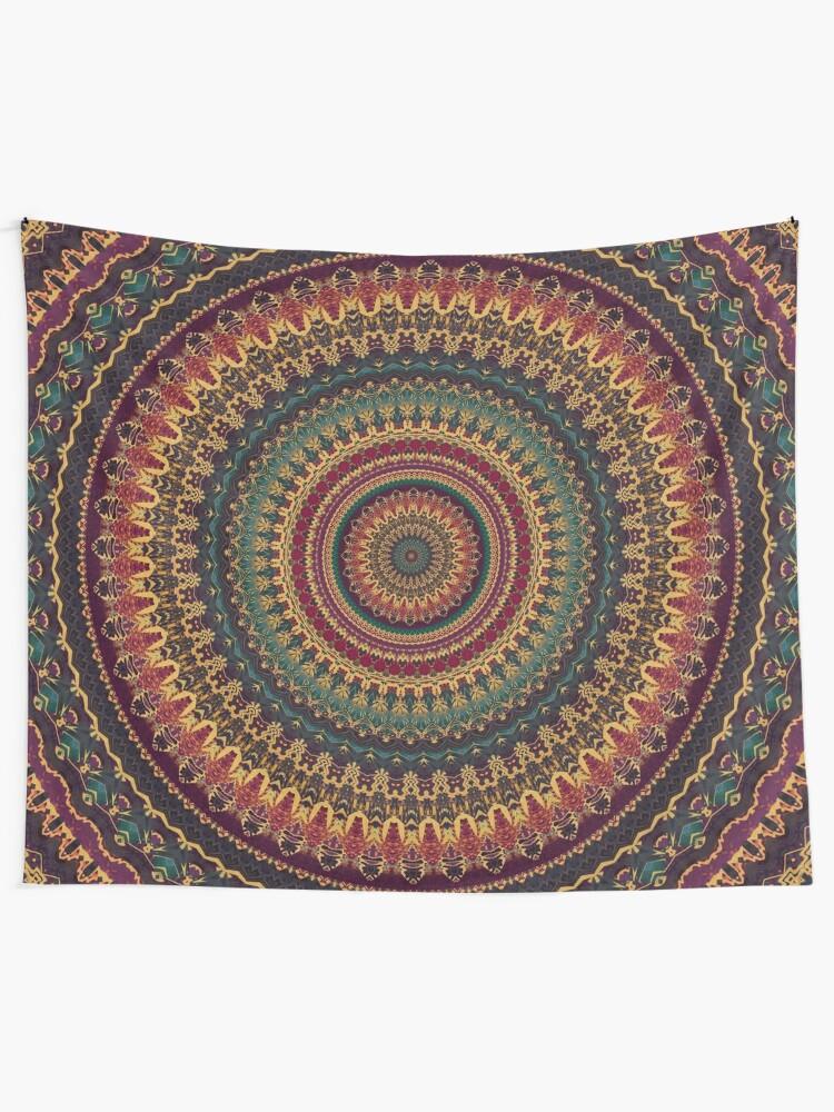 Alternate view of Mandala 11 Tapestry