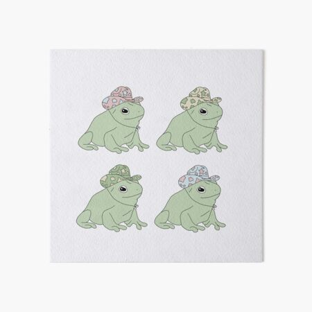 Frog with a Cowboy Hat Sticker Pack Art Board Print