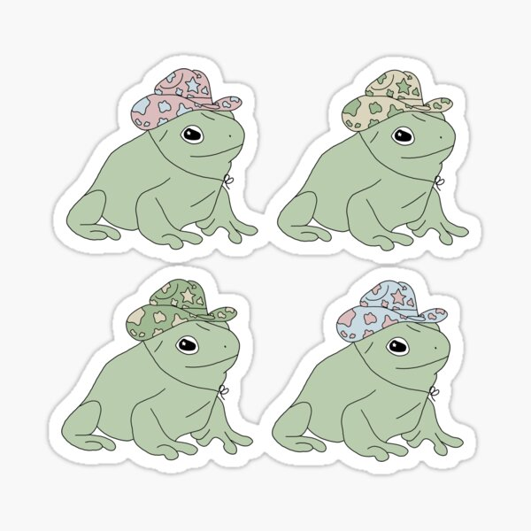 Frog with a Cowboy Hat Sticker Pack Sticker