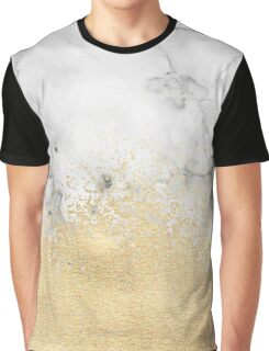 Gold Dust on Marble Graphic T-Shirt
