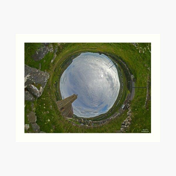Glencolmcille Church - Sky In Art Print