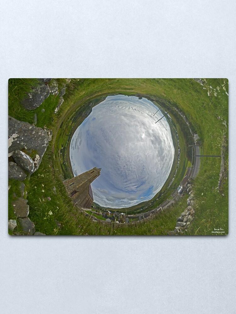 Alternate view of Glencolmcille Church - Sky In Metal Print