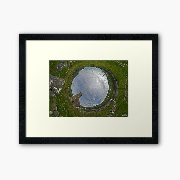 Glencolmcille Church - Sky In Framed Art Print