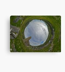 Glencolmcille Church - Sky In Canvas Print