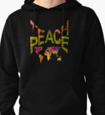 Teach Peace Globally Pullover Hoodie