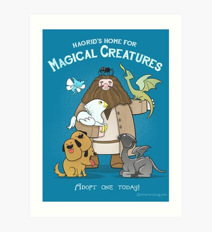 Hagrid's Home for Magical Creatures Art Print