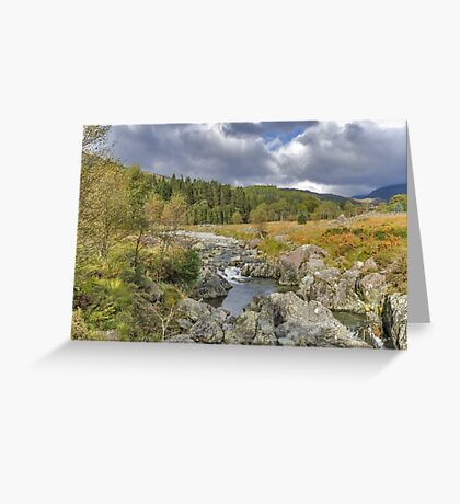 River Duddon Lake District Greeting Card