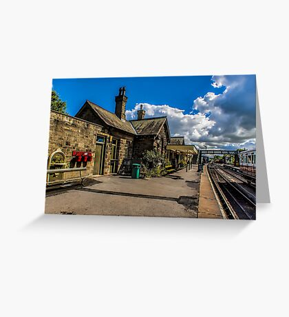 The Station Platform Greeting Card