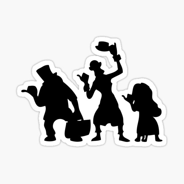 Haunted Mansion Hitchhiking Ghosts Sticker