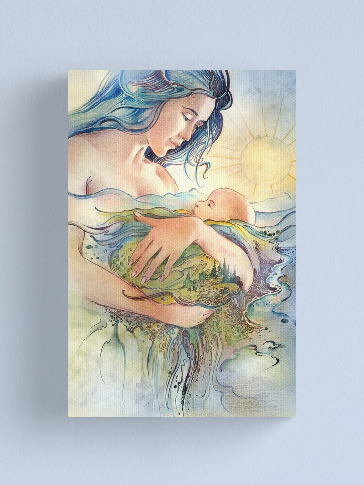 Alternate view of GAIA - Mather and Child Canvas Print