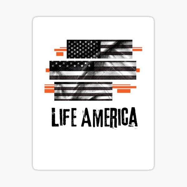 Life is America. Flag of America America banner Sticker
