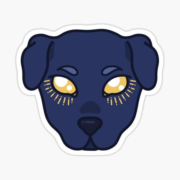 Ghost Doggy (COLOUR) Sticker