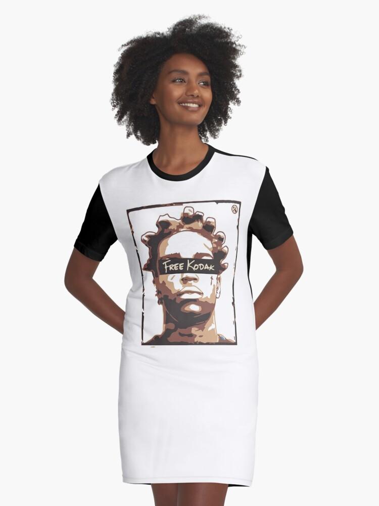 'Free Kodak' Graphic T-Shirt Dress by ZacacaShirt