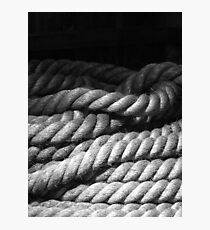 Canal Rope Detail Photographic Print