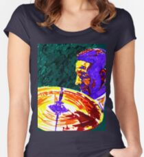 Jazz Portrait-Max Roach Women's Fitted Scoop T-Shirt