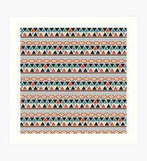 Ethnic Triangles Art Print