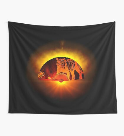 Asian subjects; Motive: Tiger Wall Tapestry