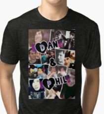 Dan and Phil Collage Tri-blend T-Shirt