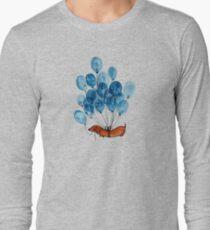 Camiseta de manga larga Perro Dachshund y globos