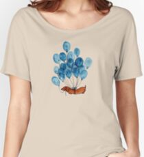 Dachshund dog and balloons Women's Relaxed Fit T-Shirt