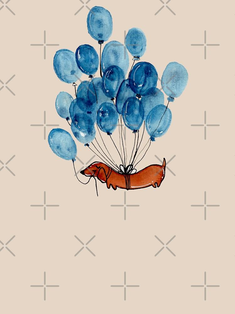 Perro Dachshund y globos de KaylaPhan