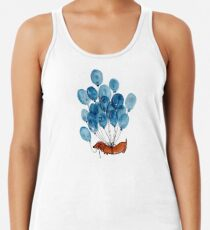 Dachshund dog and balloons Racerback Tank Top