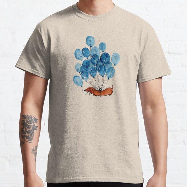 Dackelhund und Luftballons Classic T-Shirt