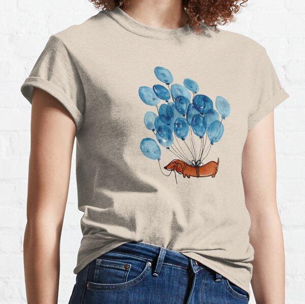 Dachshund dog and balloons Classic T-Shirt