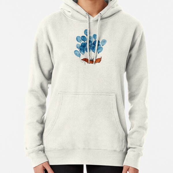 Dachshund dog and balloons Pullover Hoodie