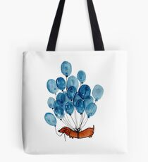 Dachshund dog and balloons Tote Bag