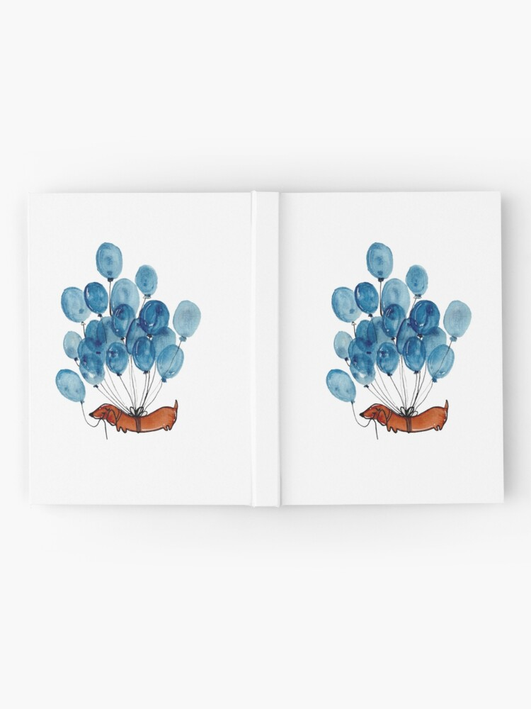 Alternate view of Dachshund dog and balloons Hardcover Journal