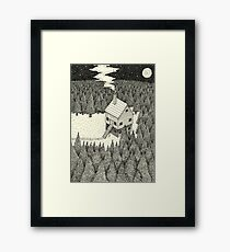 The Middle Of Nowhere Framed Print