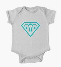 Uterus Hero Teal One Piece - Short Sleeve