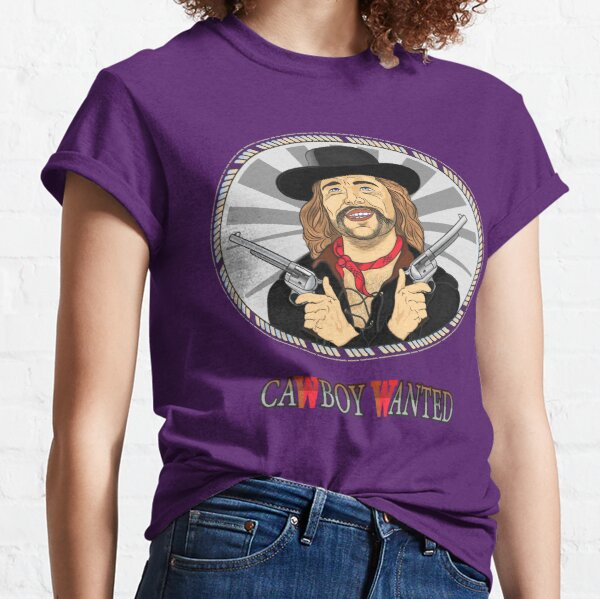 Cowboy in black hat with two pistols Classic T-Shirt