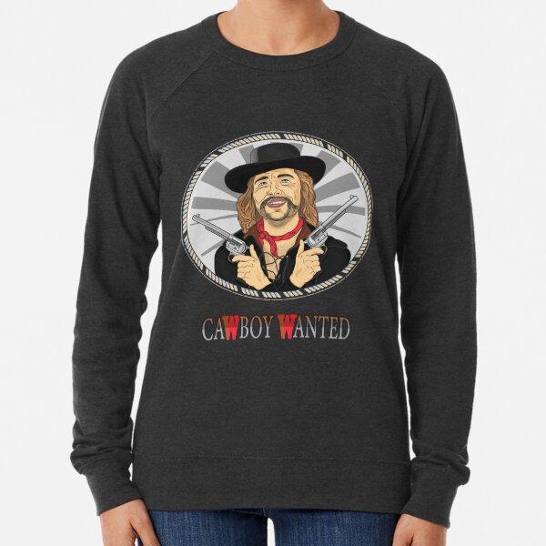Cowboy in black hat with two pistols Lightweight Sweatshirt