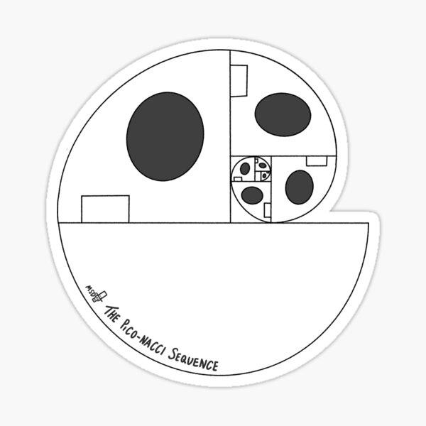 The Pico-nacci Sequence -Golden Ratio Design Sticker