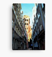 Gdansk old town in watercolor Canvas Print