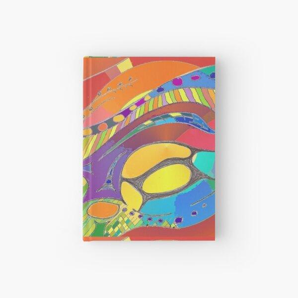 Bold Organic Abstract Art  Hardcover Journal