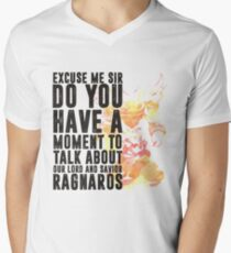 Ragnaros-Game wordart Men's V-Neck T-Shirt