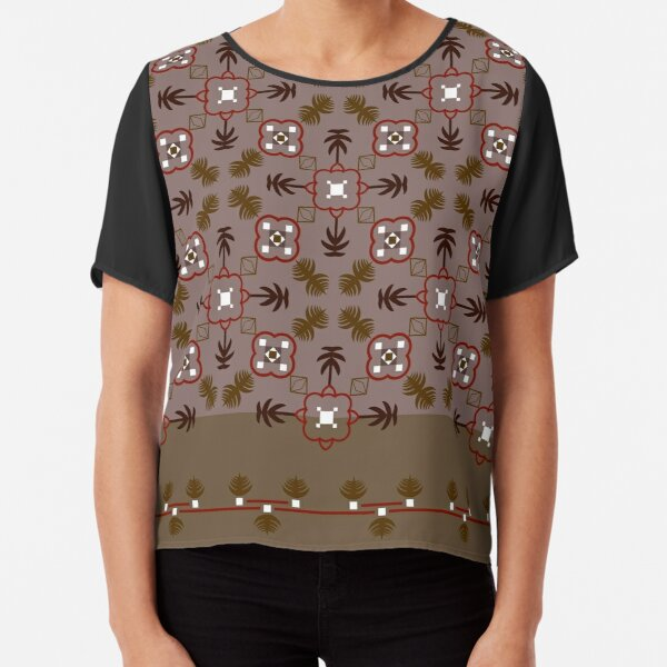 Ethnic pattern for textile, geometry shape.  Chiffon Top