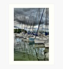 Yachts on Lake Windermere Art Print