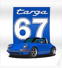 Porsche 911 blue targa Poster