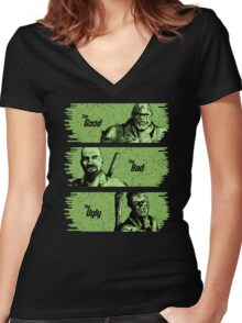 The Mutant, The Raider, The Ghoul Women's Fitted V-Neck T-Shirt