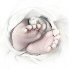 Baby feet pencil sketch von Irisangel
